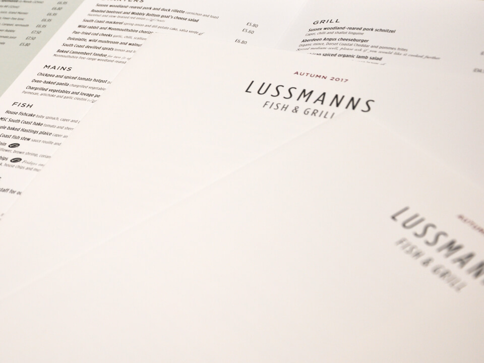 Lussmans menu